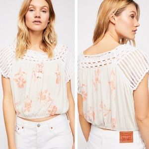 NWT Free People Day Trippin' Crochet Crop Top